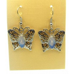 Opalite Gemstone Butterfly Fishhook Earrings