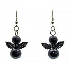 Slate Guardian Angel Fishhook Earrings