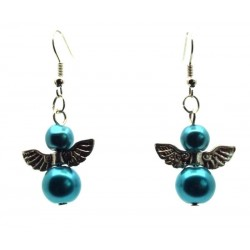 Turquoise Guardian Angel Fishhook Earrings