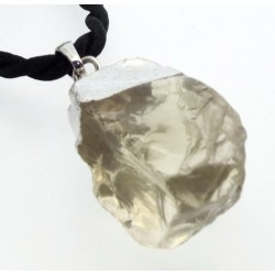 Natural Citrine Electroplated Pendant