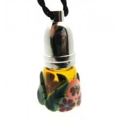 Fimo Coated Empty Mojo Bottle Pendant
