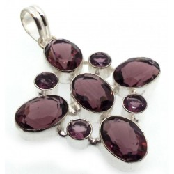 Amethyst Indian Silver Pendant 03