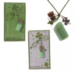 Lucky Dust Shamrock Mojo Bottle Pendant