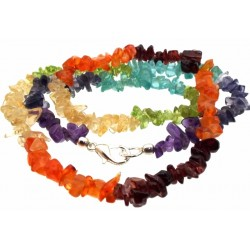 18 Inch Chakra Gemstone Necklace