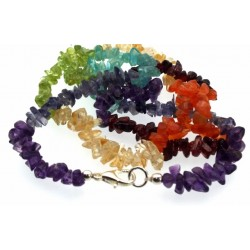 24 Inch Chakra Gemstone Necklace