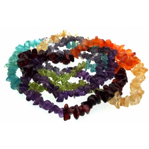 32 Inch Chakra Gemstone Necklace