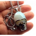 Opalite Skull Chain Necklace