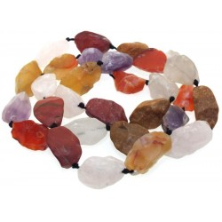 28 Inch Natural Gemstone Bead Necklace