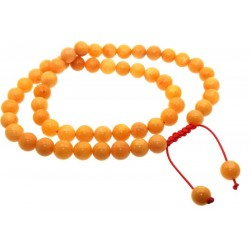 10mm Golden Healer Quartz Mala Prayer Bead Necklace