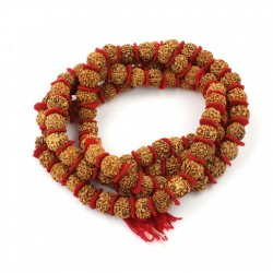 68 inch Wooden Mallah Prayer Bead Rudraksha Necklace