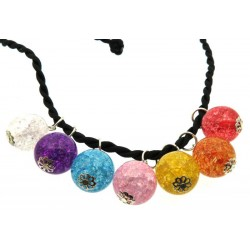 Interchangeable Crackle Quartz Chakra Necklace