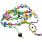 Colourful Tie Dye Bead Rosary Necklace