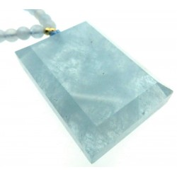 Aquamarine Gemstone 24 inch Necklace 01