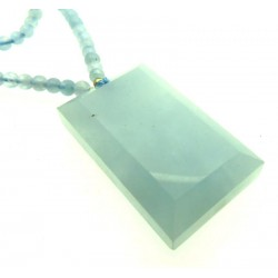 Aquamarine Gemstone 24 inch Necklace 02