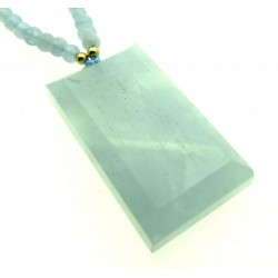 Aquamarine Gemstone 24 inch Necklace 03