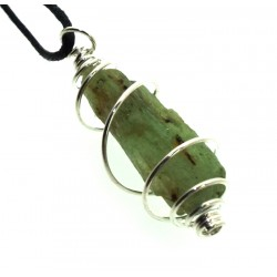 Green Kyanite Small Gemstone Spiral Pendant