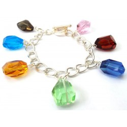 Andara Multi Coloured Charm Bracelet