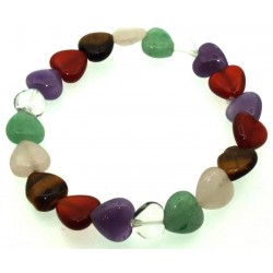Mixed Gemstone Heart Bracelet