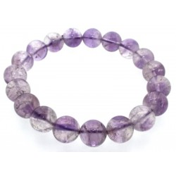 10mm Lilac Amethyst Gemstone Power Bracelet