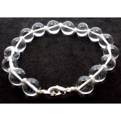 10mm Clear Quartz Gemstone Power Bracelet