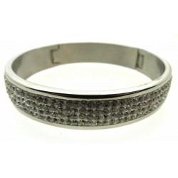 Stainless Steel Rhinestone Crystal Bracelet