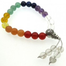 Chakra Gemstone Bead Elasticated Power Bracelet