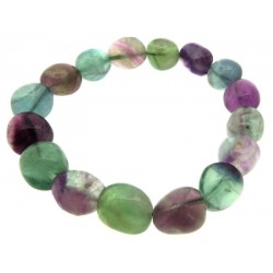 Fluorite Gemstone Pebble Bracelet
