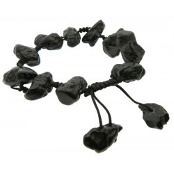 Adjustable Tektite Macrame Bracelet