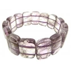 Chunky Amethyst Gemstone Elasticated Bracelet