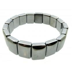 Chunky Terahertz Gemstone Elasticated Bracelet