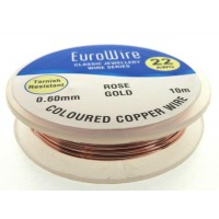 06mm Rose Gold Coloured Copper Wire