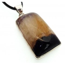 Blue John Gemstone Sterling Silver Pendant 01
