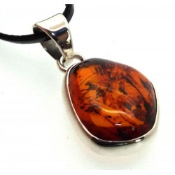 Amber Sterling Silver Pendant 03