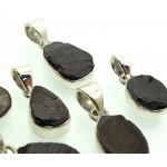 Shungite Gemstone Sterling Silver Lucky Dip Pendant