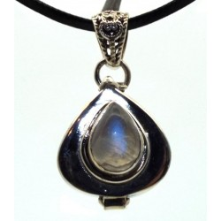 Rainbow Moonstone Sterling Silver Locket