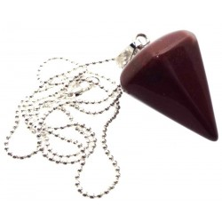 Red Jasper Gemstone Hexagon Pendulum Point Pendant