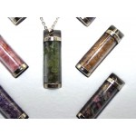 Gift Boxed Seven Gemstone Chip Glass Vial Pendant