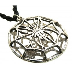 Metal Spider Web Cage Pendant