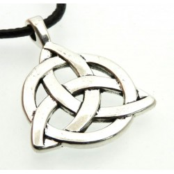 Silver Coloured Metal Triquetra Pendant
