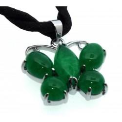 Jade Metal Butterfly Pendant