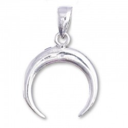 Small Goddess Crescent Sterling Silver Pendant