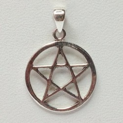 15mm Pentacle Sterling Silver Pendant