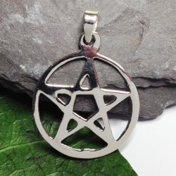 20mm Pentacle Sterling Silver Pendant