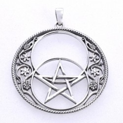 Chalice Well Single Pentagram Sterling Silver Pendant