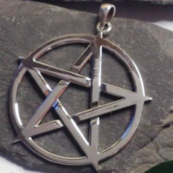 33mm Pentacle Sterling Silver Pendant