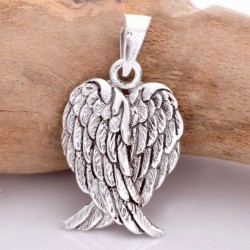Small Angel Wing Sterling Silver Pendant