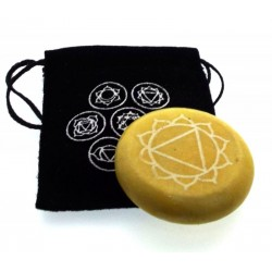 Solar Chakra Meditation Soapstone with Pouch