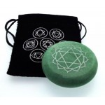 Heart Chakra Meditation Soapstone with Pouch