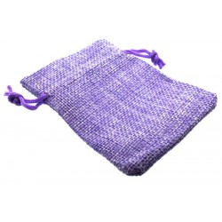 Burlap Drawstring Pouch Lilac