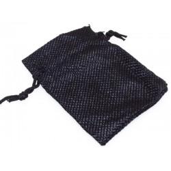 Burlap Drawstring Pouch Black